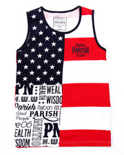 Sizes 8-20 - Big Kids - STARS & STRIPES TANK (8-20)