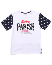 T-Shirts - PARISH STARS & STRIPES TEE (8-20)