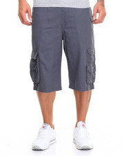 Men - Ribbed Band Canvas Cargo Short