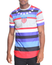 Shirts - Striped Sports S/S Tee
