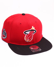 Hats - Miami Heat Sure Shot Two Tone 47 Captain Snapback Cap