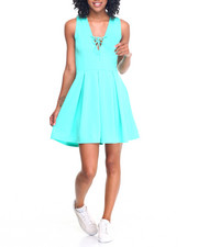 Fashion Lab - Lace-Up Princess Skater Dress