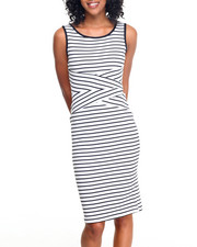 Fashion Lab - Bullet Stripe Ottoman Dress
