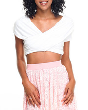 Fashion Tops - Caterpillar Stretch Jersey Cropped Top
