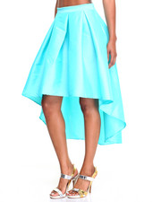 Women - Fashionista Hi-Low HemTaffeta Skirt
