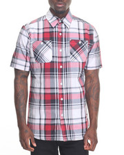 Akademiks - Moss Plaid S/S Button-Down