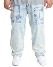 Jeans & Pants - Patched Acid - Wash Denim Jeans (B&T)
