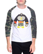 Basic Essentials - Gorilla Mack Camo - Sleeve Raglan