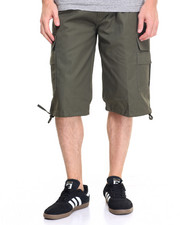 Men - Twill Belted Cargo Shorts
