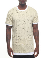 Men - Splatter Distressed Contrast Tee