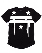 T-Shirts - ELONGATED AMERICANA DRIP TEE (8-20)