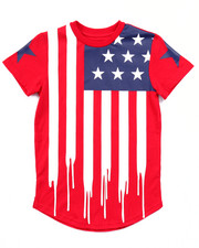 Tops - AMERICANA FLAG DRIP TEE (4-7)