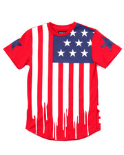 Sizes 8-20 - Big Kids - AMERICANA FLAG DRIP TEE (8-20)