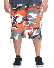 Basic Essentials - Belted Cotton Camo Cargo Shorts (B&T)