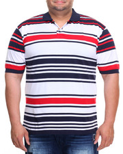 Basic Essentials - Stripe Pique S/S Polo (B&T)