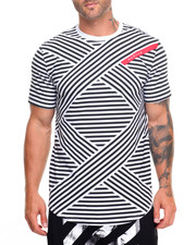 Hudson NYC - X Striped S/S Tee