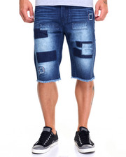 Men - Patch Denim Shorts