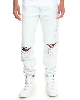 True Religion - White Washed Geno w Flap Jean