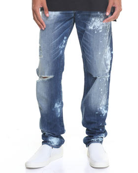 Denim - Indigo Bleach Spot Jean