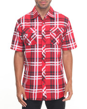 Shirts - Plaid S/S Button Down