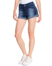 Women - Braided Side Stretch Denim Short