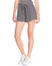 Women - Alba Chevron Print Self Belt Short