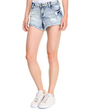 Women - Stretch Denim Paint Splatter Short