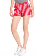 Basic Essentials - Nautical Striped Twill Short