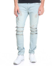 Buyers Picks - R & D STERLING Tri - Zip Structured Denim Jeans
