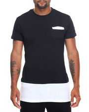 Shirts - Side - Zip Slub Jersey Elongated S/S Tee