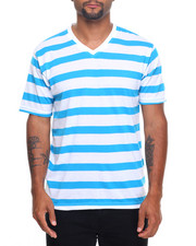 Shirts - Basic Striped V - Neck S/S Tee