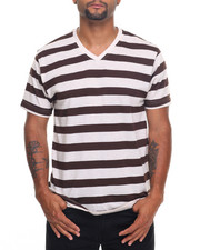 Basic Essentials - Basic Striped V - Neck S/S Tee