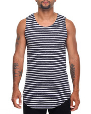Men - Scallop Hem Layering Tanktop