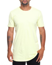 Men - Scallop Hem Knit T-Shirt