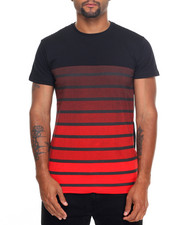 Men - S/S Crew Neck Printed Stripe Tee