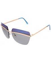 Women - Rimless Geo Square Blue Revo Lens Sunglasses