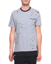 Men - SS Distressed Scallop Tee