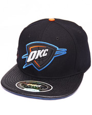 Men - O K C GATOR - PRINT LEATHER - BRIM STRAPBACK HAT