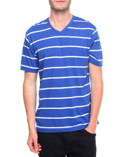 Basic Essentials - Pinstripe V - Neck S/S Tee