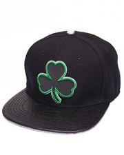 Men - CELTICS CLOVER LOGO GATOR - PRINT LEATHER - BRIM STRAPBACK HAT