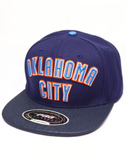 Men - OKLAHOMA CITY AWAY JERSEY LOGO GATOR - PRINT LEATHER - BRIM STRAPBACK HAT