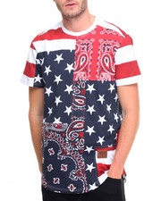 Men - Flag Paisley Print T-Shirt