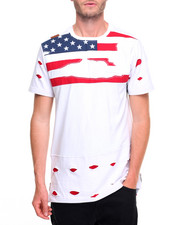 Men - Distressed Flag Print T-Shirt