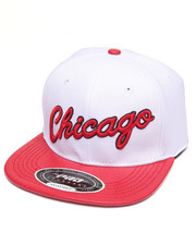 Men - CHICAGO SCRIPT GATOR - PRINT LEATHER - BRIM STRAPBACK HAT