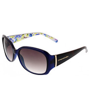 Women - Floral Tort Rectangular Metal Hinge Bar Sunglasses
