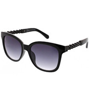 Women - Deep Square Catty Chain Link Temple Sunglasses