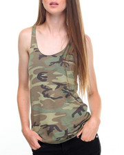 DRJ Army/Navy Shop - Rothco Womens Camo Racerback Tank Top
