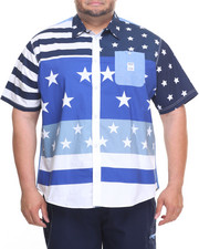 Parish - Star Stripes S/S Button-Down (B&T)