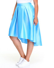 Fashion Lab - Fashionista Hi-Low HemTaffeta Skirt (Plus)