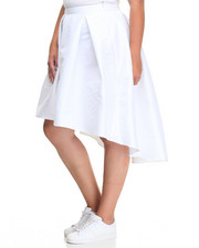 Women - Fashionista Hi-Low HemTaffeta Skirt (Plus)